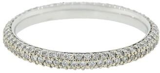 Kwiat 18kt white gold diamond Cobblestone band ring