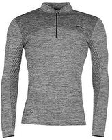 Slazenger Mens Technical Pullover Sweater Jumper Chin Guard Long Sleeve Pattern