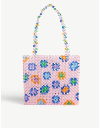 Susan Alexandra Soraya multi-coloured beaded tote bag