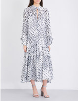See by Chloe Kimono sleeve ruffled dress