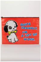 Blue Q Puppy Zipper Pouch