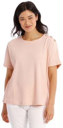 Regatta Extended Short Sleeve Tee With Button Shoulder