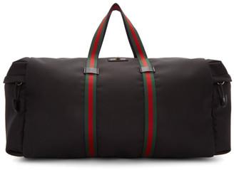 Gucci Black Technical Duffle Bag