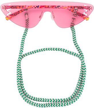 M Missoni Rimless Tinted Sunglasses