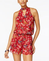 Amy Byer Juniors' Printed Keyhole Romper