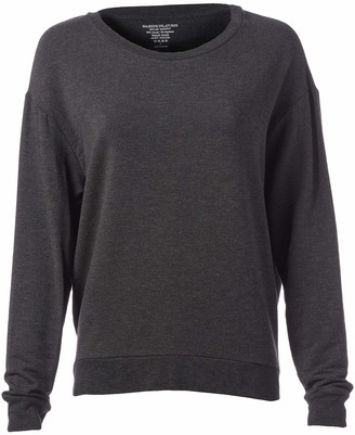 Majestic Filatures Women's French Terry Long Sleeve Boxy Pullover
