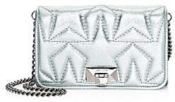 Jimmy Choo Women's Helia Star Metallic Leather Clutch