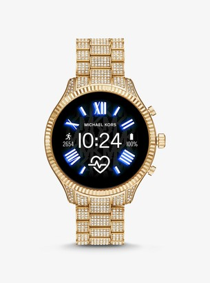 Michael Kors Gen 5 Lexington Pave Gold-Tone Smartwatch