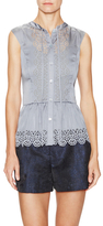 Temperley London Jacques Cut-Out Peplum Top