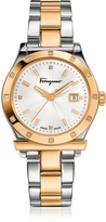 Salvatore Ferragamo 1898 Gold IP and Stainless Steel Men's Watch