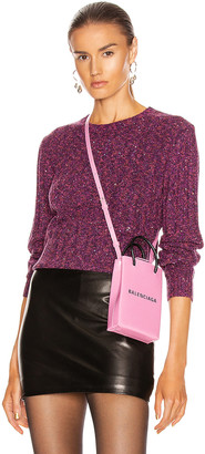 GRLFRND Freckled Sweater in Fuchsia & Black | FWRD