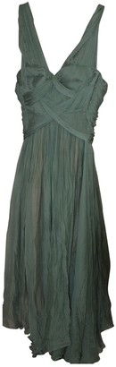 Maria Lucia Hohan Green Silk Dresses