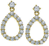 Giani Bernini Cubic Zirconia Open Teardrop Drop Earrings in 18k Gold-Plated Sterling Silver, Only at Macy's