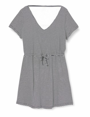 Only Women's ONLMAY Life S/S V-Neck Stripe JRS (T-Shirt Dress) Casual