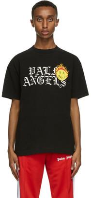 Palm Angels Black Smiley Edition Burning Head Logo T-Shirt