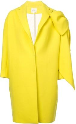 DELPOZO bow-embellished cocoon coat