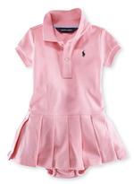 Ralph Lauren Solid Polo Dress (Baby Girls)