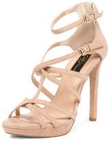 Dorothy Perkins Nude suede strap sandals
