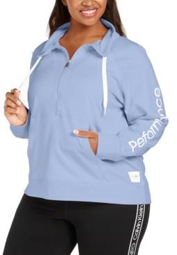 Calvin Klein Plus Size Half-Zip Pullover
