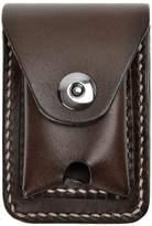 ZLYC Handmade Genuine Leather Cigarette Case Pouch Waist Belt Loop Cigarette Pack Box with Lighter Holder