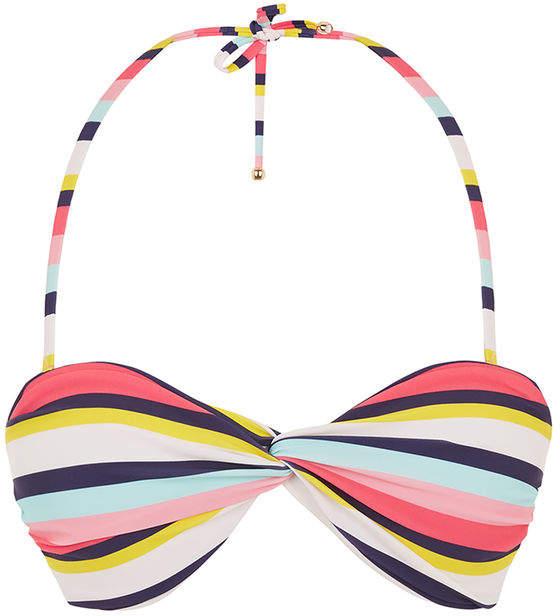 Oasis Stripe Twist Bikini Top