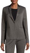 T Tahari Nima One-Button Jacket, Gray/Black