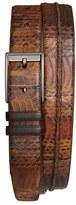 Mezlan Men's Genuine Snakeskin Belt