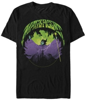 Disney Men's Sleeping Beauty Maleficent Flames, Short Sleeve T-Shirt