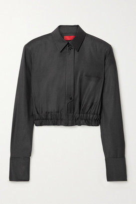 Commission Cropped Wool Jacket - Charcoal