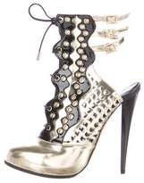 Versace Studded Cutout Platform Pumps