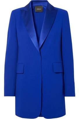 Akris Sierra Satin-trimmed Wool-blend Blazer