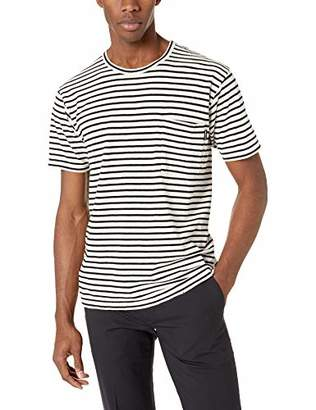 The Kooples Men's Men's Striped Jersey T-Shirt with Chest Pocket