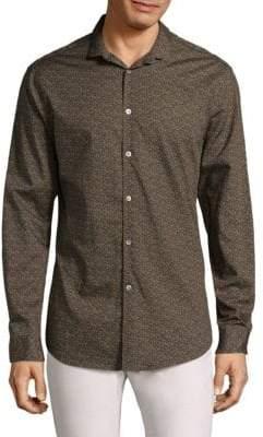 John Varvatos Slim-Fit Floral Button-Down Shirt