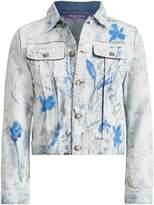 Ralph Lauren Painted Cropped Trucker Jacket