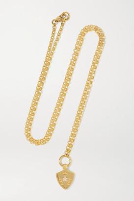 Foundrae Per Aspera Ad Astra 18-karat Gold Diamond Necklace