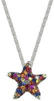 Effy Jewelry Effy 925 Sterling Silver Multi Sapphire Splash Starfish Pendant, 2.80 TCW