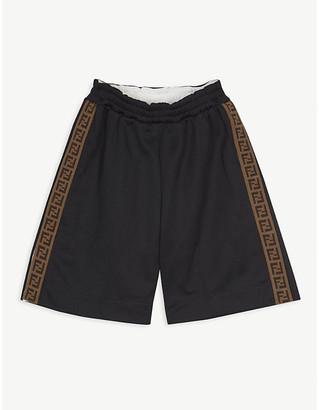 Fendi Logo tape-print woven shorts 4-14 years