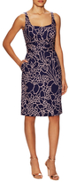Oscar de la Renta Day Printed Sheath Dress