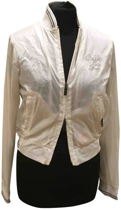 Calvin Klein White Polyester Leather jackets