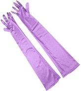 Aivtalk Women Shiny Stretch Satin Long Elbow Wrist Gloves