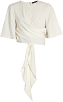 Ellery Dalliance wrap-around crepe top