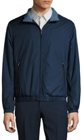 Brooks Brothers Men's Solid Stand Collar Bomber Jacket