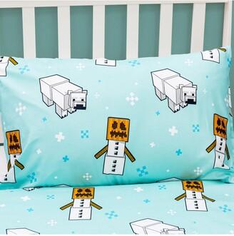 Minecraft Polar Bear Christmas Single Duvet Cover Set