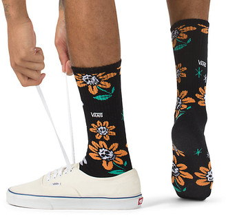 Vans Good Day Skull Flower Crew Sock