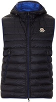 Moncler Morellet quilted down nylon hooded gilet
