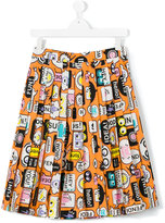 Fendi teen printed skirt - kids - Cotton - 14 yrs