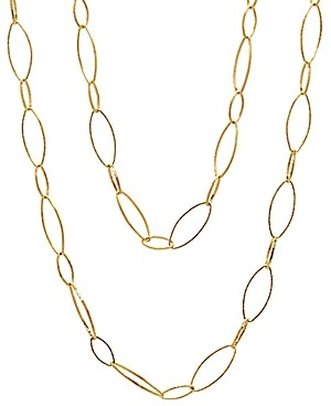Gurhan 24K/22K Yellow Gold Large Open Link Statement Necklace, 36