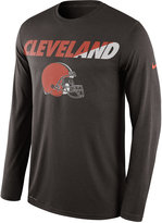Nike Men's Long-Sleeve Cleveland Browns Legend Staff Practice T-Shirt