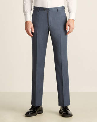 Tailorbyrd Denim Blue Wool Dress Pants