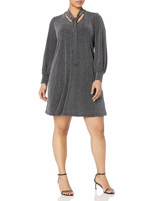 Karen Kane Women's Plus Size TIE-Neck Taylor Dress
